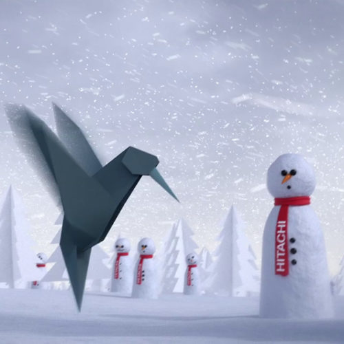 Hitachi Christmas Card animation